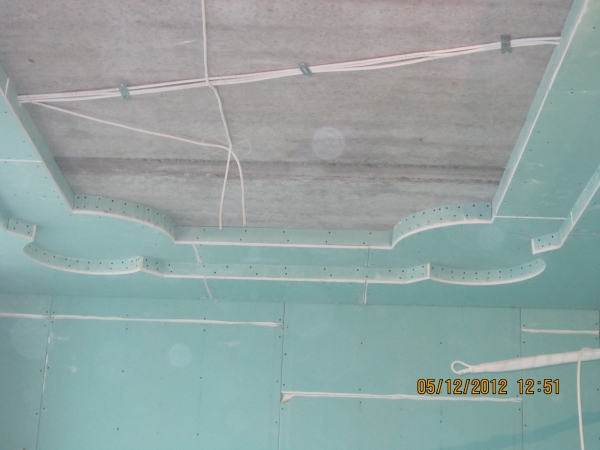 Короба из гипсокартона под натяжные потолки