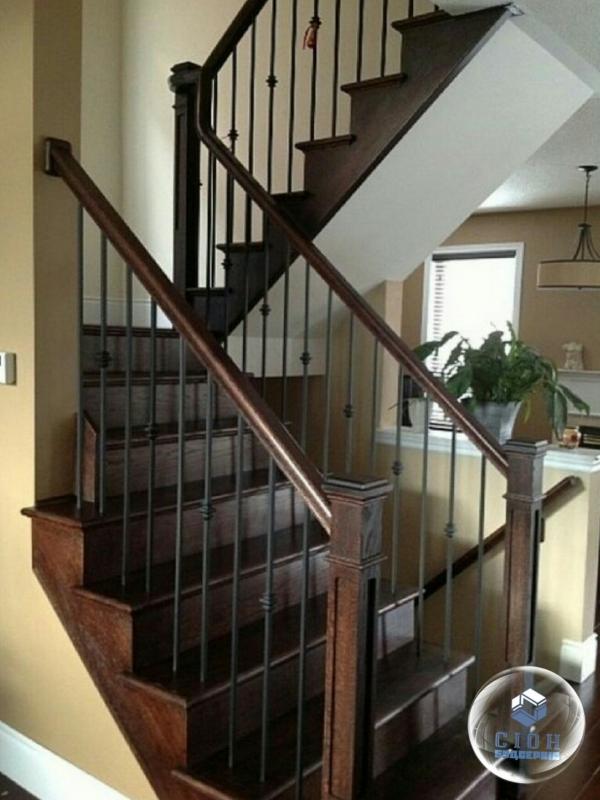 Изготовление лестниц из дерева и металла.