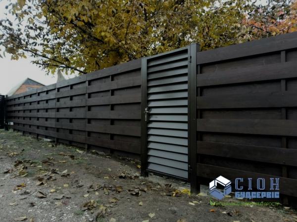 Заборы из дерева в Харькове
